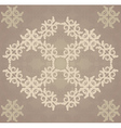 Vitage brown flourish pattern vector image vector image