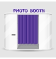 White photo booth vending machine vector image vector image