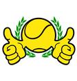 winner tennis symbol vector image vector image