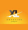 xl x l letter modern logo design with yellow vector image vector image