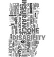 yes you do need a disability insurance text word vector image vector image