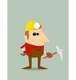 Cartoon miner vector image