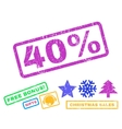 40 Percent Rubber Stamp vector image vector image
