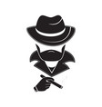 a stranger in a hat holds a cigarette in his hand vector image vector image