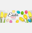 abstract easter sale template background vector image vector image