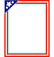 american decorative frame vector image vector image