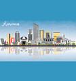 amman jordan skyline with color buildings blue