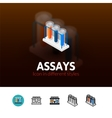 Assays icon in different style vector image vector image