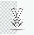 award honor medal rank reputation ribbon line vector image vector image
