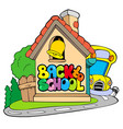 back to school theme 2 vector image