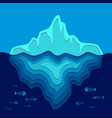 background with iceberg and fish skeletons vector image vector image