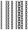 black contour of the metal chain with highlights vector image