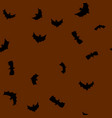 black flying bats silhouettes seamless vector image