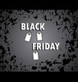 black friday concept sale bang shards vector image