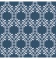 blue and white leaves vector image vector image