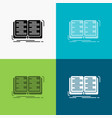 book education lesson study icon over various vector image