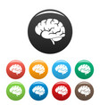 brain power icon simple style vector image vector image