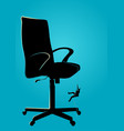 businessman climbing on chair using rope vector image vector image