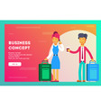 businessmen are going to a conference vector image