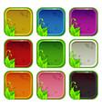 cartoon colorful app icon frames set vector image vector image