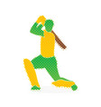 cricket player hitting shoot design vector image