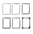 doodle frame collection vector image vector image