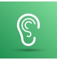 ear icon listen hear deaf human sign vector image