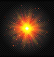 explosion light sun flare explosion star vector image