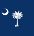 flag of the usa state of south carolina vector image vector image