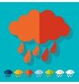 Flat design cloud vector image