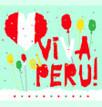 Flat fiestas patrias design card with text fiestas