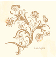 Floral and decorative background vector image vector image