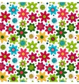 Floral seamless cute pattern simple design vector image