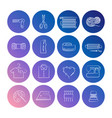 handcraft line icons set vector image