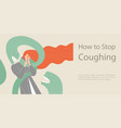 how to stop coughing symbolic image vector image