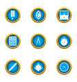 interface icons set flat style vector image vector image