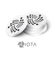 iota cryptocurrency tokens vector image vector image
