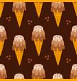 layered coffee ice cream cones pattern vector image vector image