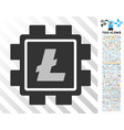 litecoin mining pool flat icon with bonus vector image vector image