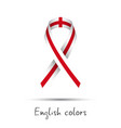 modern colored awareness ribbon with the english vector image vector image