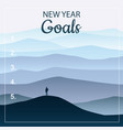 new years resolution goals in the new year men vector image vector image