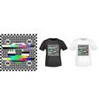 no signal tv screen stamp and t shirt mockup vector image vector image