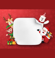 origami paper art santa claus and christmas vector image vector image