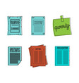 paper icon set color outline style vector image