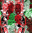 pattern with the style of Maori vector image vector image