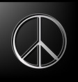 peace sign gray 3d printed vector image vector image