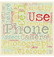 Photography And The Cell Phone text background vector image vector image
