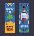 pirate quest game banner fun vector image vector image