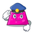 police trapezoid character cartoon style vector image
