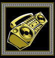 retro boombox hand drawing vector image